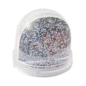 Glitterbol met sneeuw