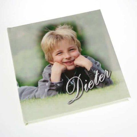 Fotoboek met eigen canvas kaft